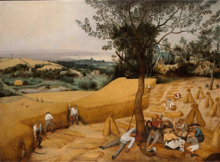The Harvesters (July–August), 1565 - Pieter Bruegel the Elder