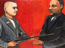 James Earl Ray as Judas Vs. Martin Luther King Jr. as Messiah - Wilfredo Argueta Hernandez