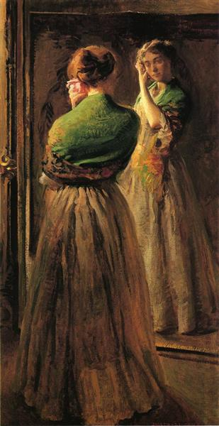 Girl with a Green Shawl, c.1900 - Joseph DeCamp