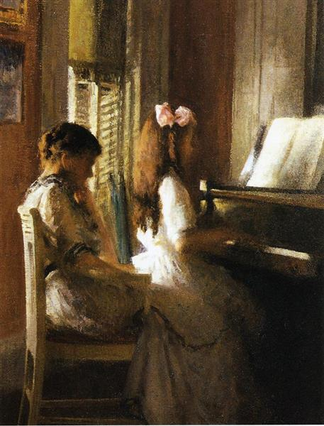 The Music Lesson, 1904 - Joseph DeCamp