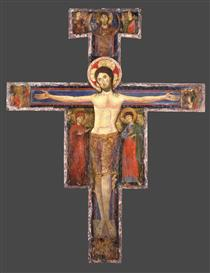 The Crucifixion with the Virgin Mary and St John - Alberto Sotio