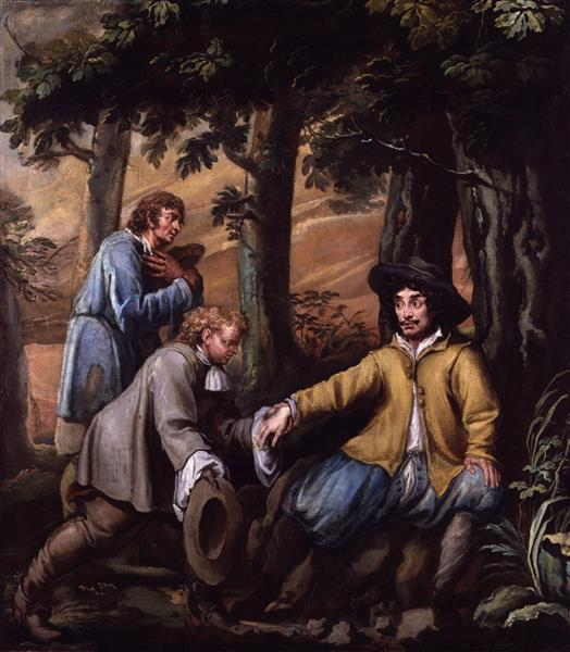 King Charles II in Boscobel Wood - Isaac Fuller