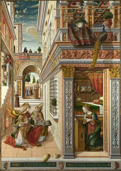 Annunciation with Saint Emidius, 1486 - Carlo Crivelli