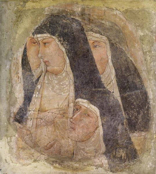 A Group of Four Poor Clares - Ambrogio Lorenzetti