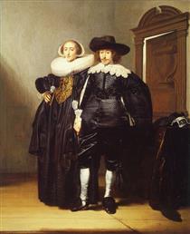 Double Portrait of a Married Couple - Pieter Codde