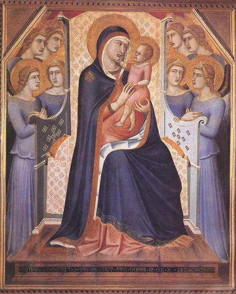 Madonna Enthroned with Angels, 1340 - Pietro Lorenzetti