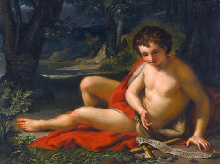 Saint John the Baptist in the Desert, 1755 - Anton Raphael Mengs