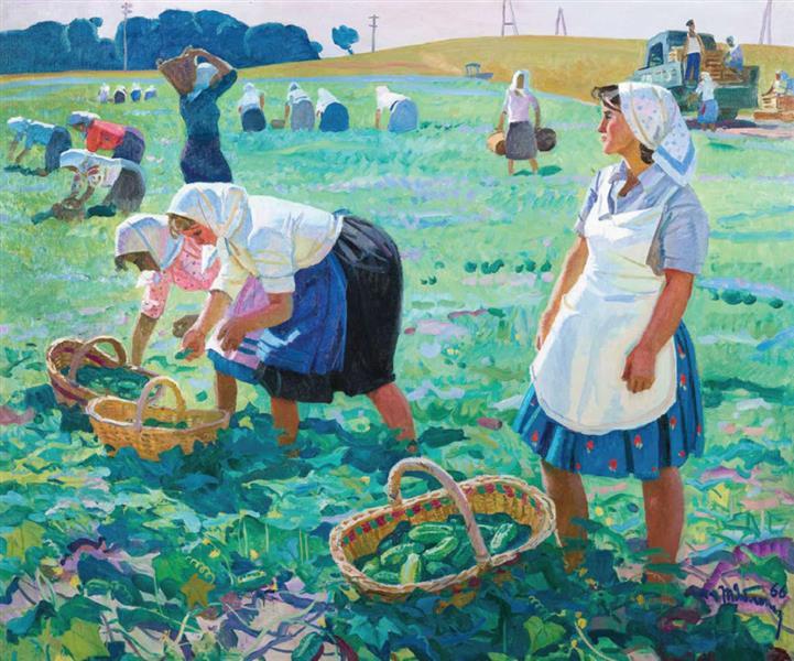 Cucumber Harvesting, 1966 - Tetyana Yablonska