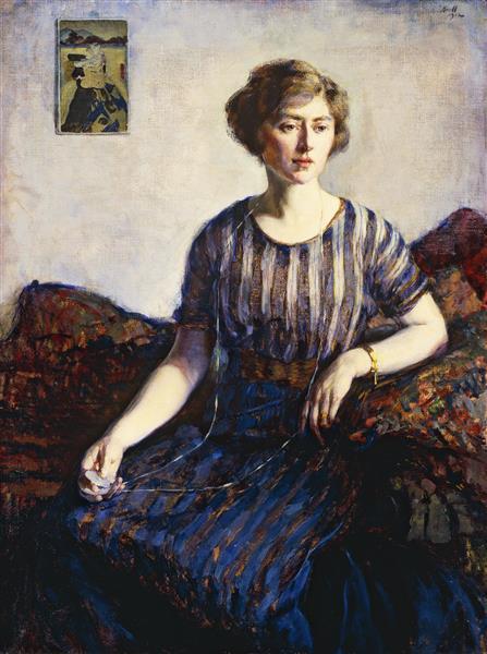 Tess Kroll Pergament, the Artist's Sister, 1912 - Leon Kroll