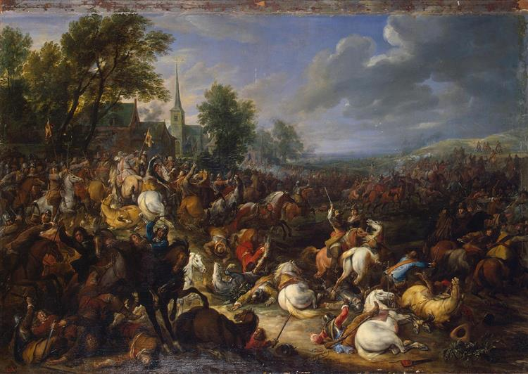 Cavalery in the Battle, 1657 - Adam van der Meulen