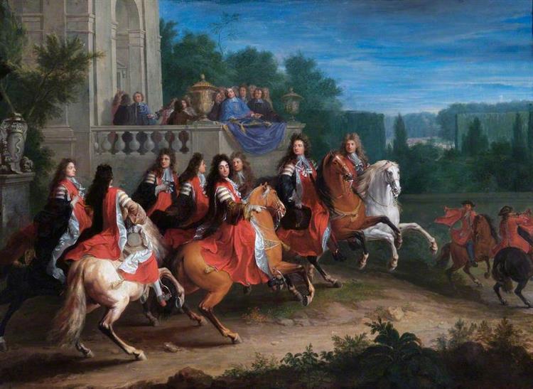 """Tableau De La """"famille Colbert"""", Sans Précision Sur Les Personnages Représentés, 1683 - Adam Frans van der Meulen"""