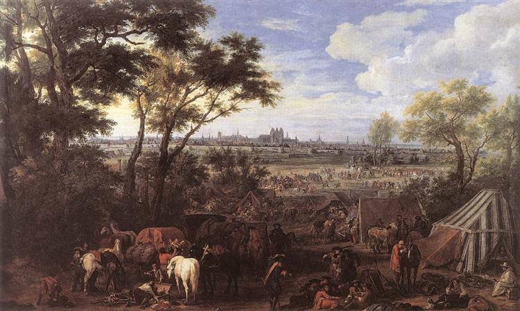 the Army of Louis Xiv in Front of Tournai in 1667, 1684 - Adam Frans van der Meulen