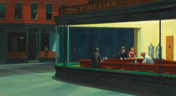 Nighthawks, 1942 - Edward Hopper