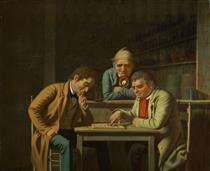 The Checker Players - George Caleb Bingham