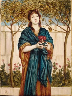Priestess Offering Poppies, 1864 - Simeon Solomon