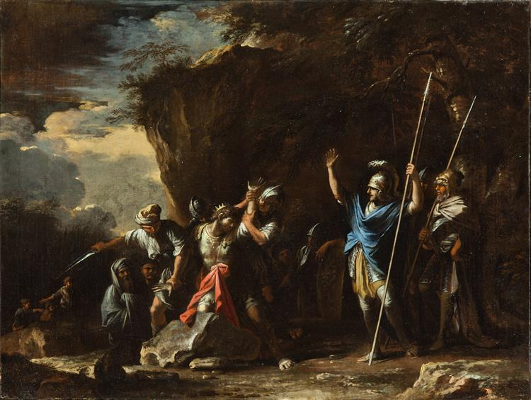 the Deaf-mute Son of King Croesus Prevents the Persians from Killing His Father - Salvator Rosa