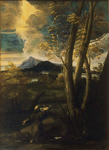 St. Francis in Ecstasy - Salvator Rosa