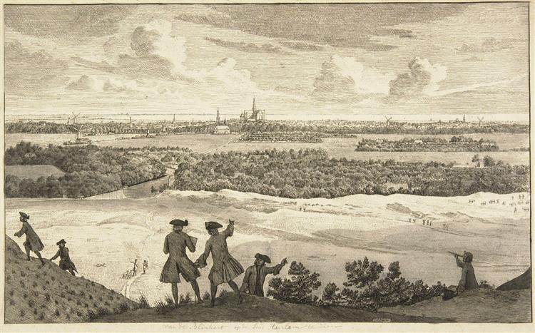 View from the Blinkert of the City Haalem, 1763 - Cornelis van Noorde
