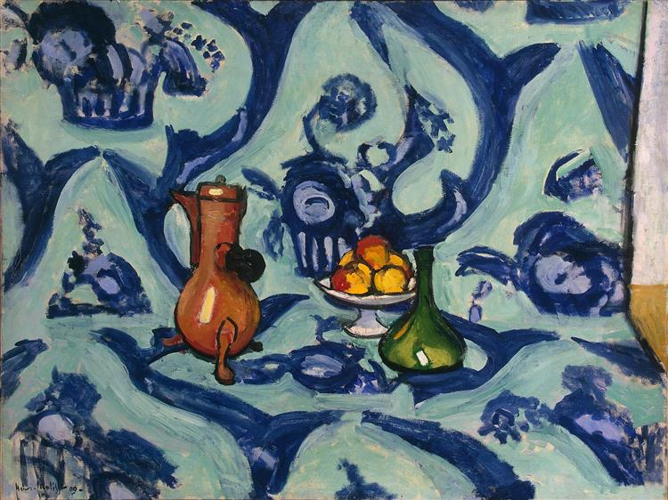 Still Life with Blue Tablecloth, 1909 - Анри Матисс
