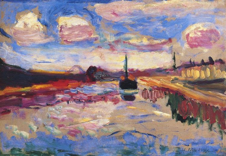 Canal Du Midi, 1899 - Henri Matisse - WikiArt.org
