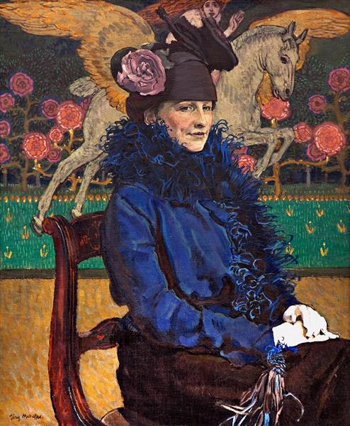 Artist's Wife with Pegasus, 1913 - Józef Mehoffer