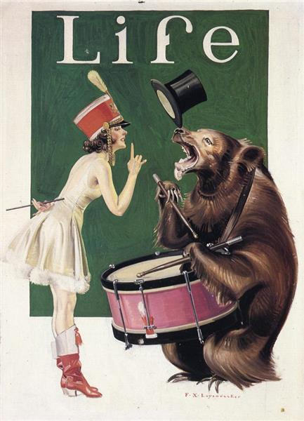 The Bear Trainer - Frank Xavier Leyendecker