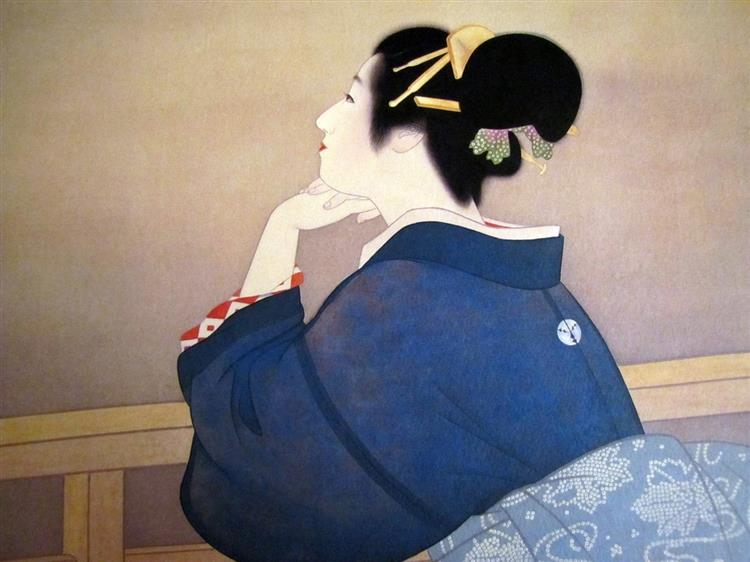 Women Waiting for the Moon to Rise, 1944 - Uemura Shōen