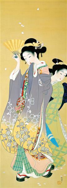 Cherry Blossom Viewing, 1914 - 1915 - Uemura Shoen
