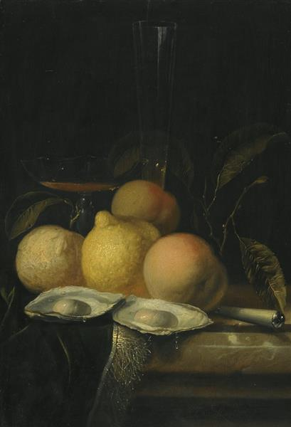 Still-Life with Fruits & Oysters - Juriaen van Streeck