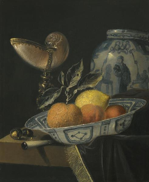 Still-Life with Fruits and a Nautilus Goblet - Juriaen van Streeck