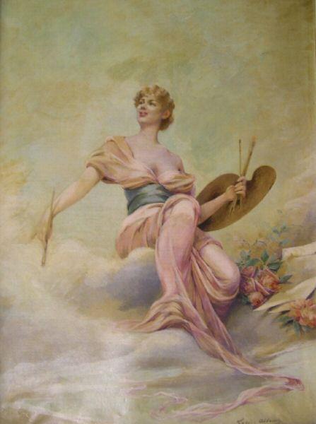 La peinture, c.1897 - Луиза Аббема