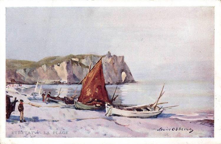 La plage d'Étretat, 1908 - Louise Abbéma