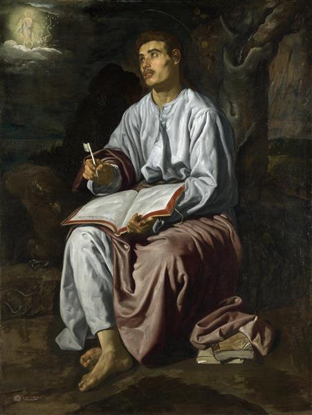 Saint John at Patmos, c.1619 - Diego Velazquez