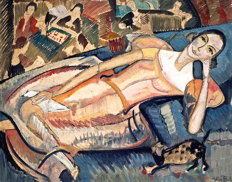 At Leisure, 1922 - Alice Bailly