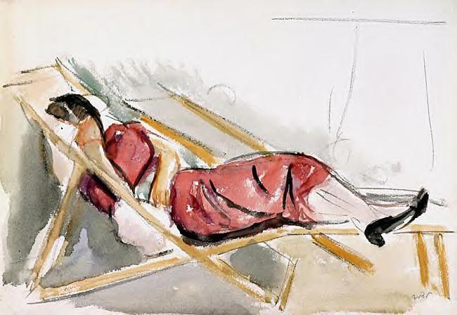 Aneri in a Deck Chair, 1918 - Wojciech Weiss