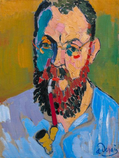Portrait of Matisse, 1905 - Andre Derain