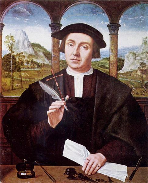 Portrait of a Man, 1520 - Квентин Массейс