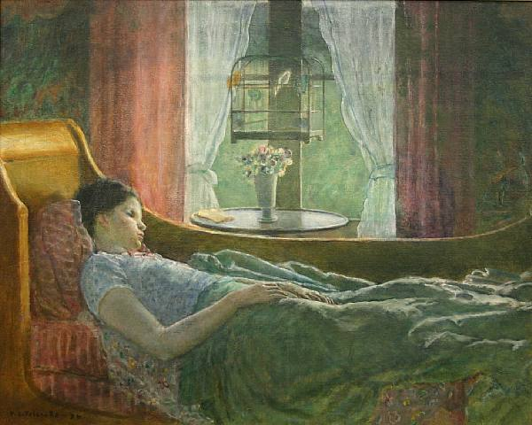 Girl on Couch (also Known as Girl in Bed), 1936 - Фридрих Карл Фриске