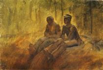 Resting Vagabonds - Laszlo Mednyanszky
