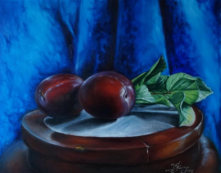 Still Life with Plums, 2017 - Lana Kanyo