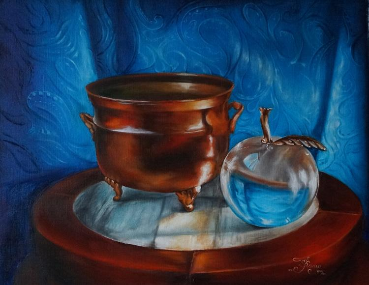Copper Pot with Glass Apple, 2017 - Lana Kanyo