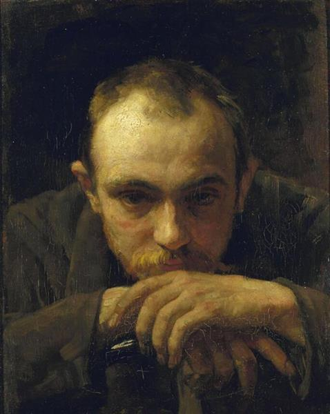Portrait of Maurits van der Valk, c.1890 - Jan Veth