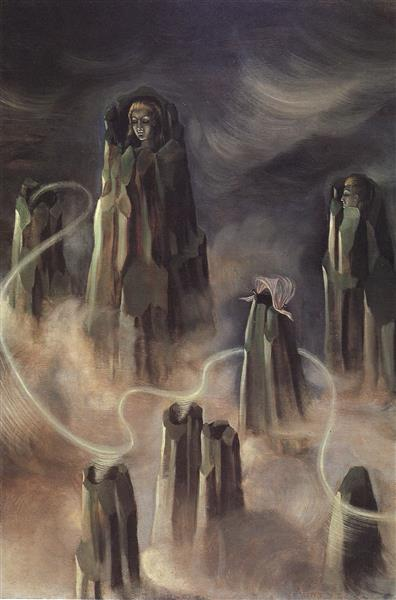 The Souls of the Mountain, 1938 - Remedios Varo
