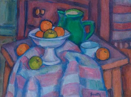 Still Life with a Jug and Oranges, c.1930 - c.1940 - János Kmetty