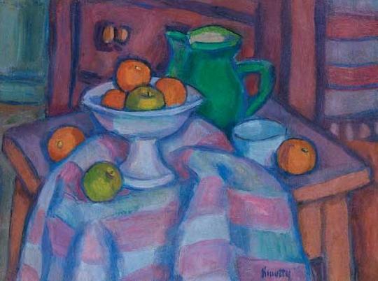 Still Life with a Jug and Oranges, c.1930 - c.1940 - János Kmetty