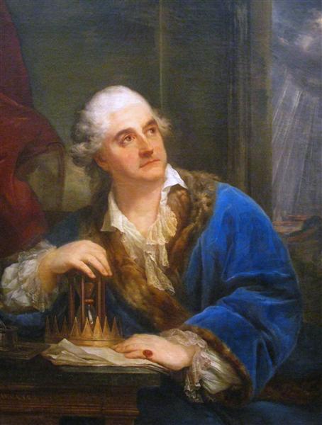 Allegorical Portrait of Stanisław August Poniatowski with an Hourglas, c.1793 - Марчелло Баччареллі