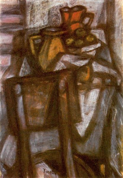 Laid Table, 1950 - Kmetty János
