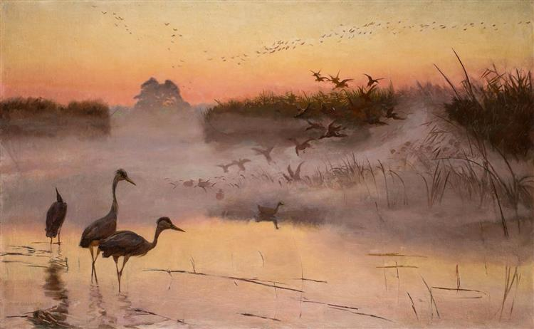 Dawn. The Kingdom of Birds, 1906 - Józef Chełmoński