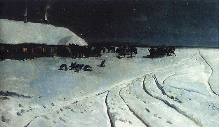 Night in Ukraine, 1877 - Józef Chełmoński