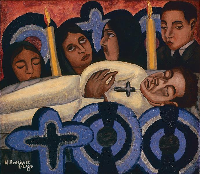 El Velorio, 1927 - Manuel Rodríguez Lozano